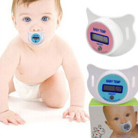 Health Monitors Baby Thermometer Pacifier -  LCD Digital Reading