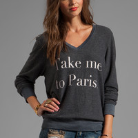 Wildfox Couture Take Me To Paris Tee in Dirty Black from REVOLVEclothing.com