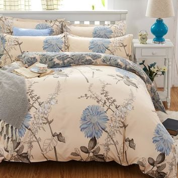 Cool Reactive Print  bedding sets luxury include Duvet Cover Bed sheet Pillowcase,King Queen Full Free shippingAT_93_12