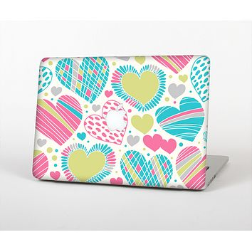 """The Fun Colored Vector Pattern Hearts Skin for the Apple MacBook Pro Retina 13"""""""