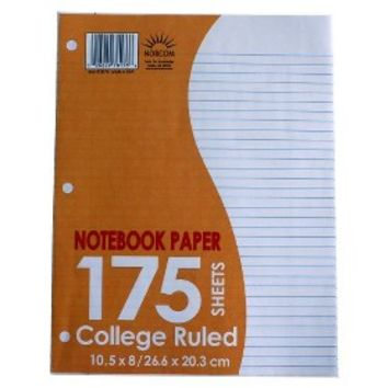 Norcom College Ruled Notebook Paper 175-ct.