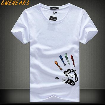 SWENEARO Men T-Shirts Plus Size 5XL 4XL Tee Shirt Homme Summer Short Sleeve Men's T Shirts Male TShirts Camiseta Tshirt Homme