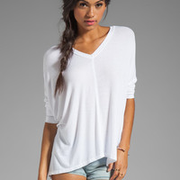 dolan 2x1 Rib Oversized Square Tee in White from REVOLVEclothing.com