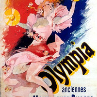Vintage French Advertising Art Poster Olympia