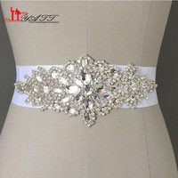 New Promotion Crystals Robbin Sash for Bride Artificial Wedding Belt for Weddings Real Images