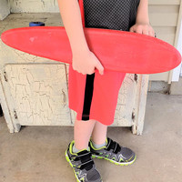 Trick Ray Red Moto Board, Red Skateboard, Heavy Vinyl, Vintage Sports Toys