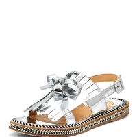 Costa Nada Red Sole Sandal, Silver - Christian Louboutin - Silver (38.0B/8.0B)