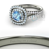 925 Sterling Silver Disney inspired Cinderella Princess Engagement Rings size 7