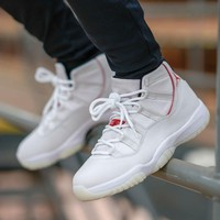 Air Jordan 11 Retro Platinum Tint Basketball Shoes - Best Deal Online