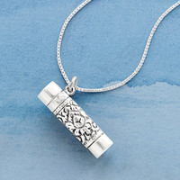Kaleidoscope Necklace | Sterling Silver & Sea Glass Pendant
