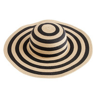 Natural Summer straw hat in stripe - scarves & hats - Women's accessories - J.Crew