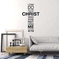 Vinyl Wall Decal Prayer Christianity Cross Bible Christian Decor Stickers Mural (ig5390)