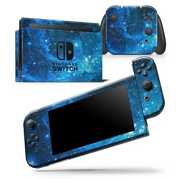 Blue Hue Nebula - Skin Wrap Decal for Nintendo Switch Lite Console & Dock - 3DS XL - 2DS - Pro - DSi - Wii - Joy-Con Gaming Controller