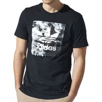 adidas Burned Stamp T-Shirt - Short-Sleeve - Men's Black,