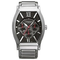 Mens Caravelle Day/Date Watch by Bulova - Stainless Steel - Black Dial