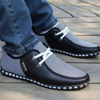 New Fashion Men Shoes 2017 Summer Loafers New Breathable Canvas Shoes High Quality Casual Footwear Fashion Light Male Walk Shoes