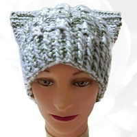 Pink PussyHat, Project, Green PussyHat, White PussyHat, Green Cat Hat, White Cat Hat, Green Pussy Hat, White Pussy Hat, Chunky Pussy Cat Hat