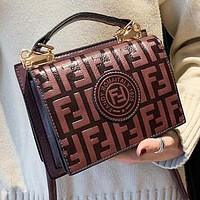 Fendi New Stylish Women Leather Handbag Bag Shoulder Bag Crossbody Satchel