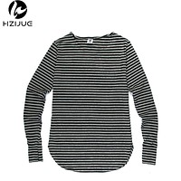 Men Cotton Striped Long Sleeve T Shirt