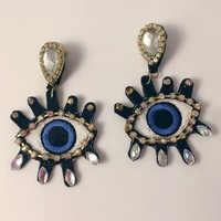 Eyes on You Patch Earrings