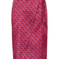 Lustre D-Ring Midi Skirt - Pink