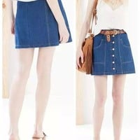 Summer Women's Fashion Denim Skirt [6513301639]