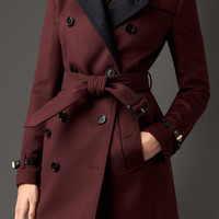 Virgin Wool Cashmere Trench Coat