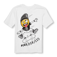 Boys Short Sleeve 'Hashtag Mad Skills' Graphic Tee | The Children's Place