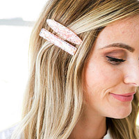 NEW! Pink Hair Clips