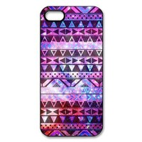 amtonseeshop Nice Brand New Stylish Hot Aztec Tribal Pattern Case for Iphone 5 5s 5th/iphone 4 4g 4gs I9500 (Purple iPhone 5 5S)