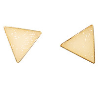 Quartz Triangle Button Earring | Shop Jewelry at Wet Seal
