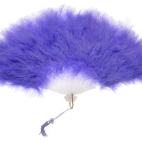BLOWOUT Feather Hand Fan - Lavender