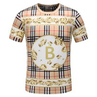 BURBERRY Summer Fashion Men Casual Plaid T-Shirt Top Tee