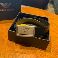 Armani 2019 new men's high-end buckle fashion wild belt