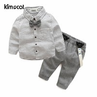 Kimocat Spring Autumn Long Sleeve Baby Boy Clothes Cute Baby Boy Suit Cartoon Printed Cotton Infant Newborn Baby Clothing Set