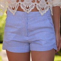 Sucker For You shorts, blue