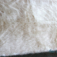 Shaggy / Soft / Faux Fur Sheep Skin Accent Rug / Rectangle / 5' x 7' / New