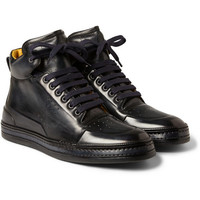 Berluti - Playtime Leather High Top Sneakers   MR PORTER