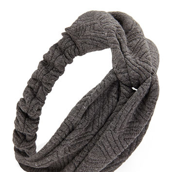 Geo Textured Knotted Headwrap