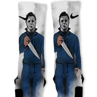 Michael Halloween Custom Nike Elite Socks