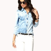 City-Chic Fitted Denim Shirt