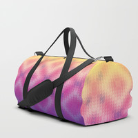 Pink Ombre Geometric Duffle Bag by Tanyadraws