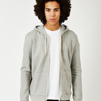 The Idle Man Zip Through Hoodie Grey