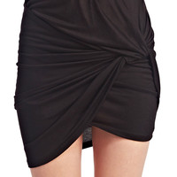 Twisted & Rouched Mini Skirt | Wet Seal