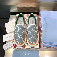 GUCCI GG 1977 Womens Canvas Loafers Shoes-3