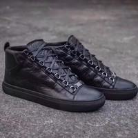 Balenciaga Men's Arena Leather High Top Casual Sneakers Shoes