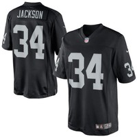 Mens Nike Bo Jackson Black Oakland Raiders Retired Player Limited Jersey