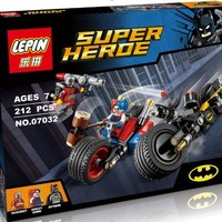 Cool LEPIN 07032 Super Hero  Mighty Micros Deadshot Harley Queen Batman with motorcycle Blocks Toys compatible withAT_93_12