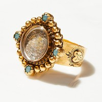 Lil' Bennie Crystal Medallion Ring