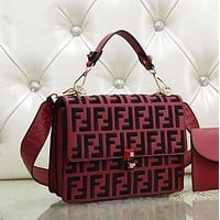 Fendi Women Fashion Shopping Leather Multicolor Shoulder Bag Satchel Crossbody-19